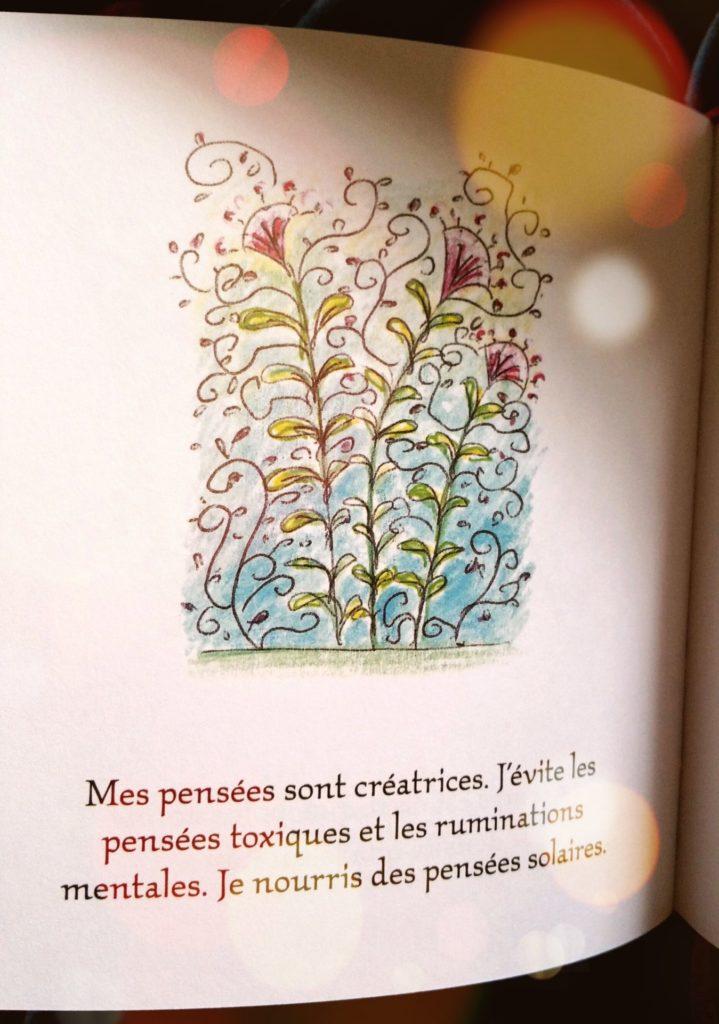 Un exemple d'illustration et de phrase inspirante